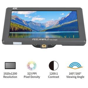 "Image 2 - 7 ""4 K monitorowanie Feelworld P7 ultra hd jasny 2200nit aparat ekran wideo HDMI 1920x1200 monitor dslr"