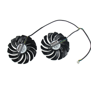 Image 3 - 2PCS/lot PLD10010S12HH RX5700 RX5600 Cooler Fan for MSI  Radeon RX 5600 5700 XT GAMING Video Card Cooling Fan