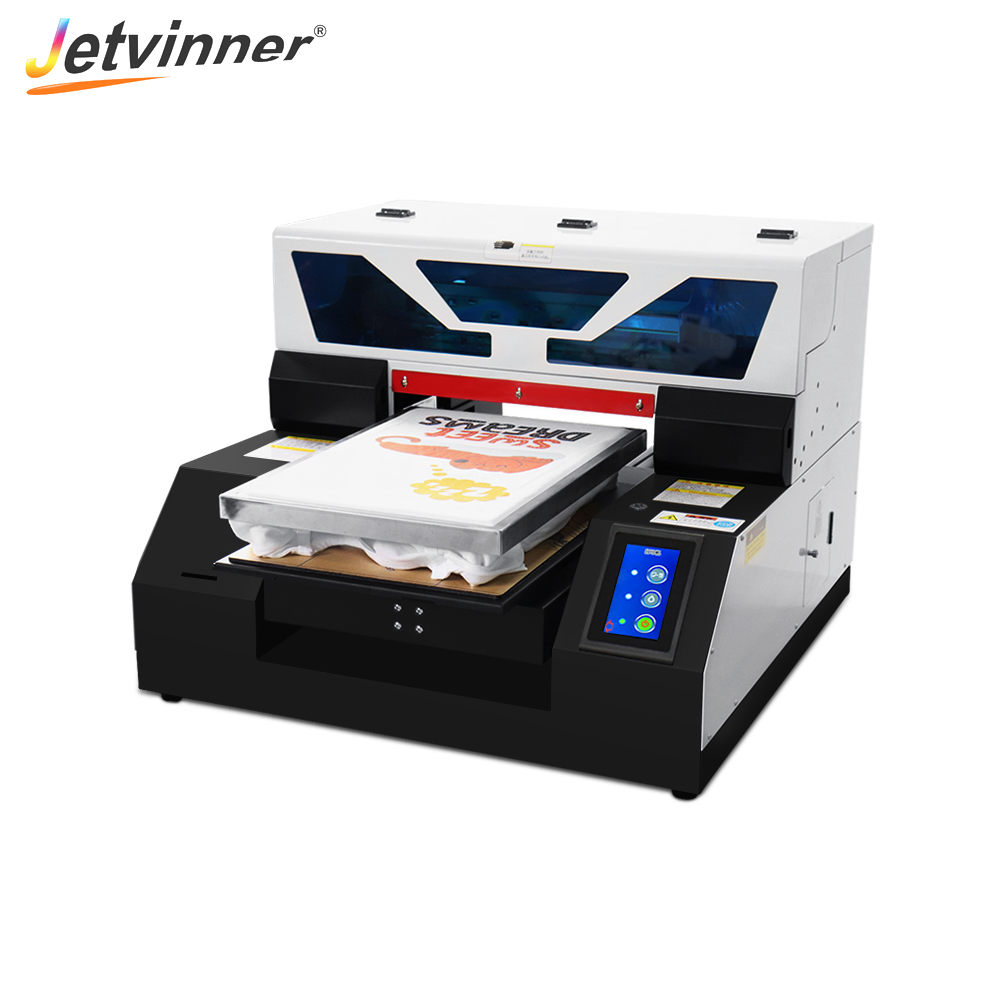 Jetvinner Full Automatic T-shirt Printer A3 Size DTG Printers Flatbed Print Machine for Textile With Touch Screen title=
