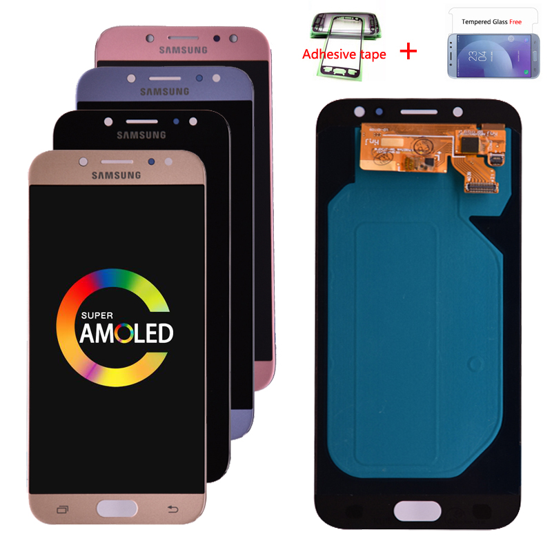 H2ea090ce3d244eeea2deb4b13846db4bS Original Super Amoled For Samsung Galaxy J7 Pro 2017 J730 J730F LCD Display and Touch Screen Digitizer Assembly free shipping