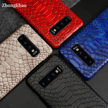 Luxury Snake Skin Leather Case for Samsung Galaxy S10 S9 Plus S10e Note 10 9 8 Shockproof Hard Back Cover for Samsung S10 Plus