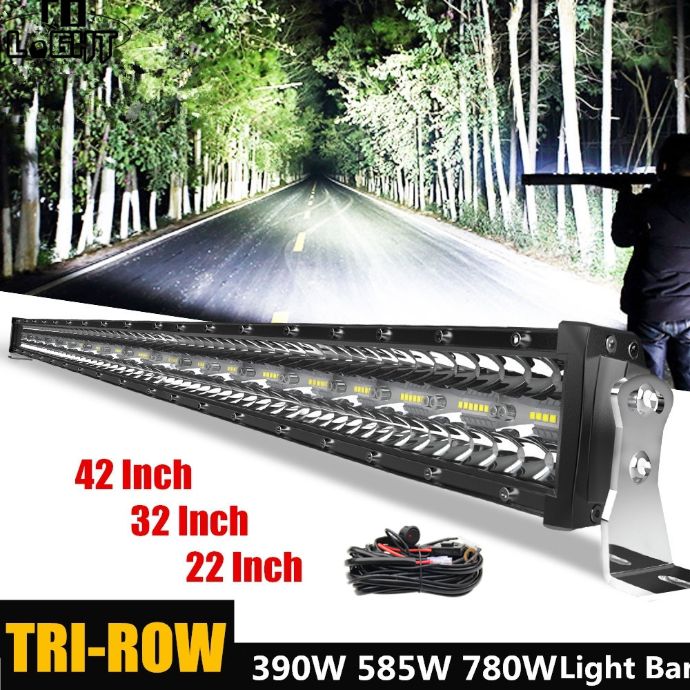 CO LIGHT 12D SUPER BRIGHT 22''32''42''5052 LED WORK LIGHT BAR SPOT FLOOD COMBO LED BAR OFFROAD LAMP FOR ATV SUV TRUCK 4X4 UAZ