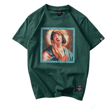 Virgin Mary Men's T-Shirts 2019 Funny Printed Short Sleeve Tshirts Summer Hip Hop T Shirt Casual Cotton Tops Tees Streetwear все цены