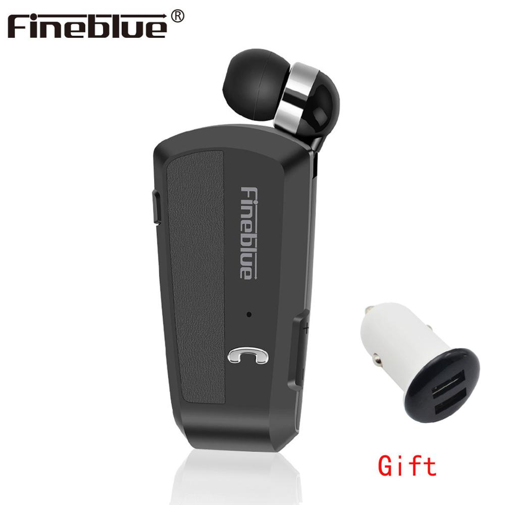Fineblue F990 Newest Wireless business Bluetooth Headset Sport Driver Earphone Telescopic Clip on stereo earbud Vibration Luxury Обои