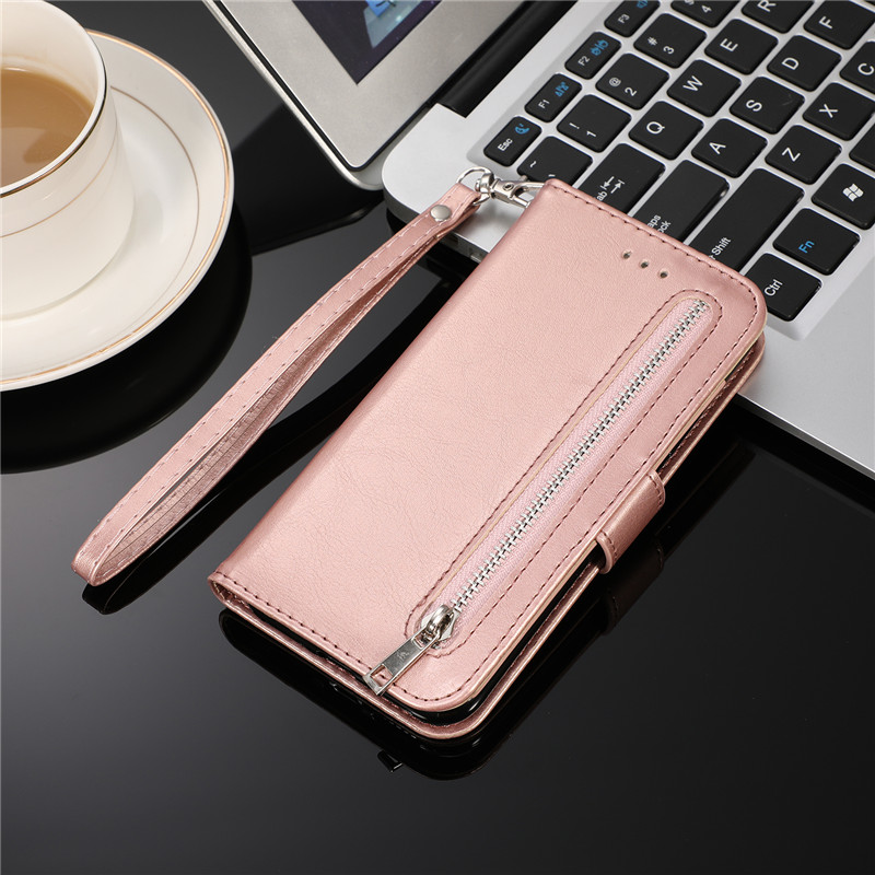 H2ea0c37508d24c13b8f6db4821f2476fd Leather Zipper 8plus Flip Wallet Case For iPhone 11 Pro X XS MAX XR 6 6s 7 8 Plus Card Holder Stand Phone Cover Coque Etui Mujer