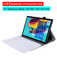 Bluetooth 3.0 Tablet Keyboard Case For Samsung Galaxy Tab S5e T720 10.5 inch Mediapad Flip Leather Protective Cover Stand Holder