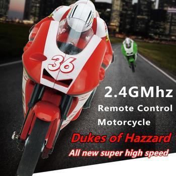 Mini RC Motorcycle High Speed Radio Controlled 2.4GHz Motorbike Children Toy