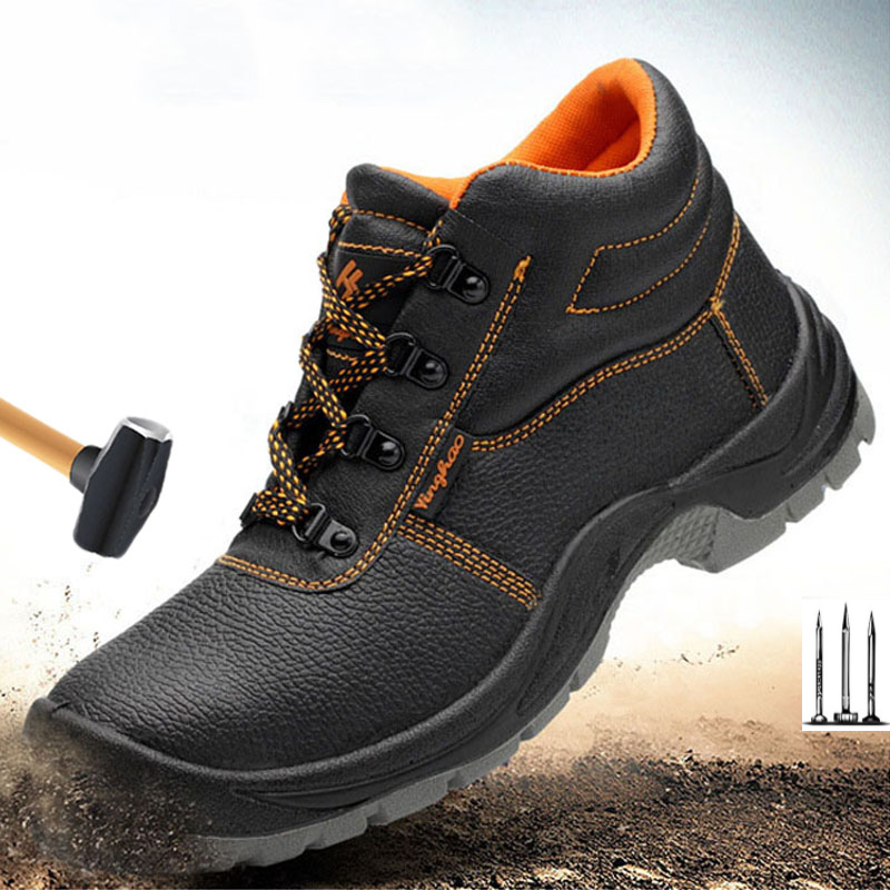 Mens Army Boot Genuine Leather Vintage Lace Up Waterproof Safety Shoes Black Desert Combat Tactical  Men Military Ankle Boots