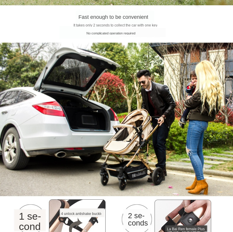 Twin Baby Strollers Light fold two Baby Pram Can Sit and Fold Newborn Baby High Landscape Detachable Double kids car free gifts