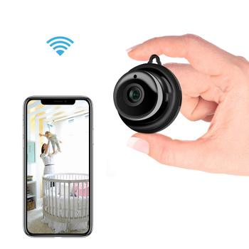 Wireless Mini WiFi Camera 720P HD IR Night Vision Home Security IP Camera CCTV Motion Detection Baby Monitor  Remote Control babykam ip camera monitor ir night vision 2 way talk pir motion detection alarm wifi camera monitors for ios android max 32g
