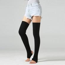 Зимние женские носки, гетры, для взрослых, для отдыха, длинные, до бедра, для женщин, очень длинные сапоги, выше колена, вязаные, танцевальные носки, гетры