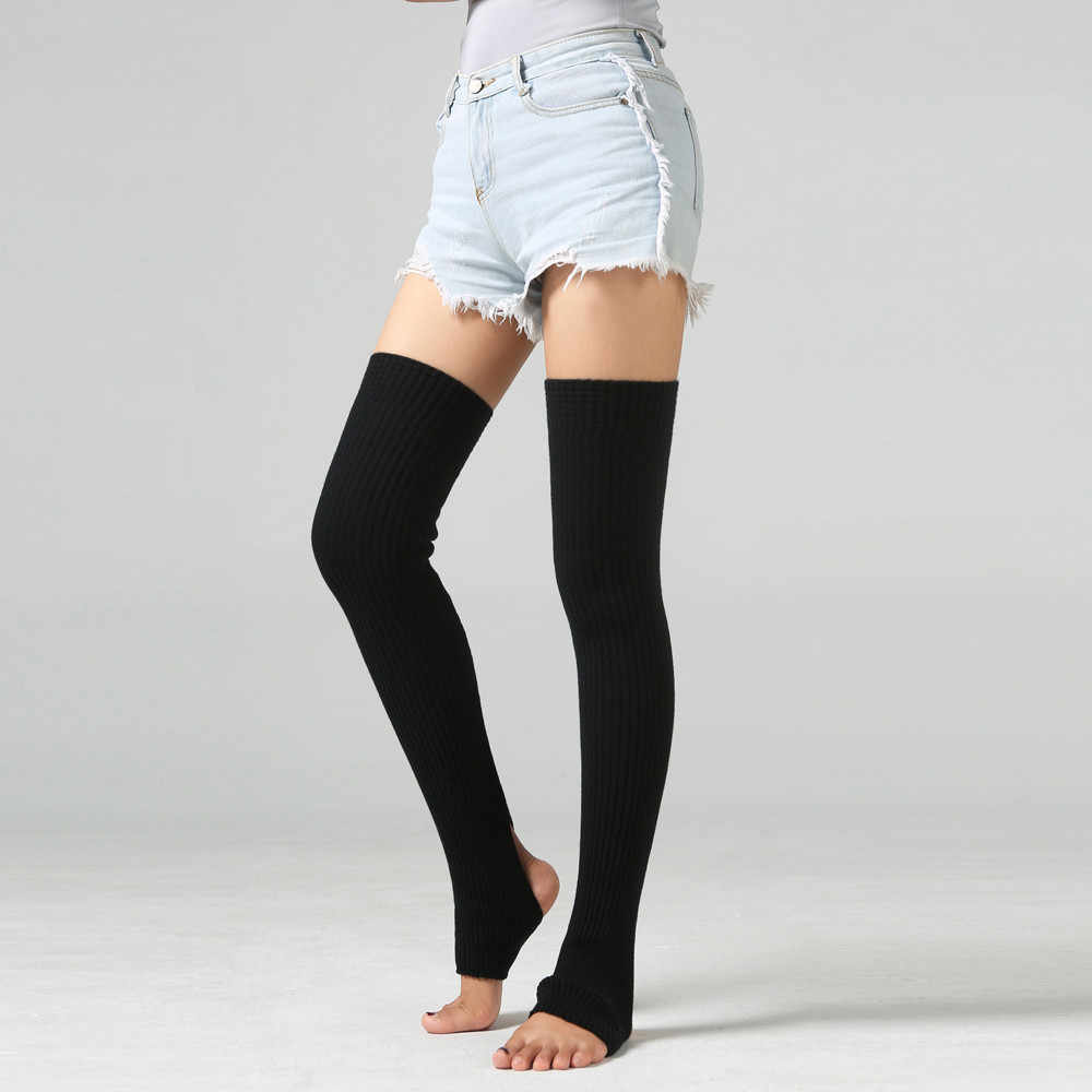Winter Women Socks Leg Warmer Adult Leisure Long Thigh High For Women Extra Long Boot Over The Knee Knit Dance Sock Beenwarmers