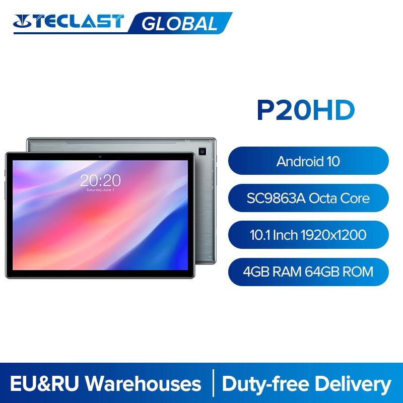 Teclast p20hd 10.1 Polegada tablet android 10 1920x1200 octa núcleo 4gb ram 64gb rom duplo 4g phablet ai velocidade-up comprimidos pc duplo wifi