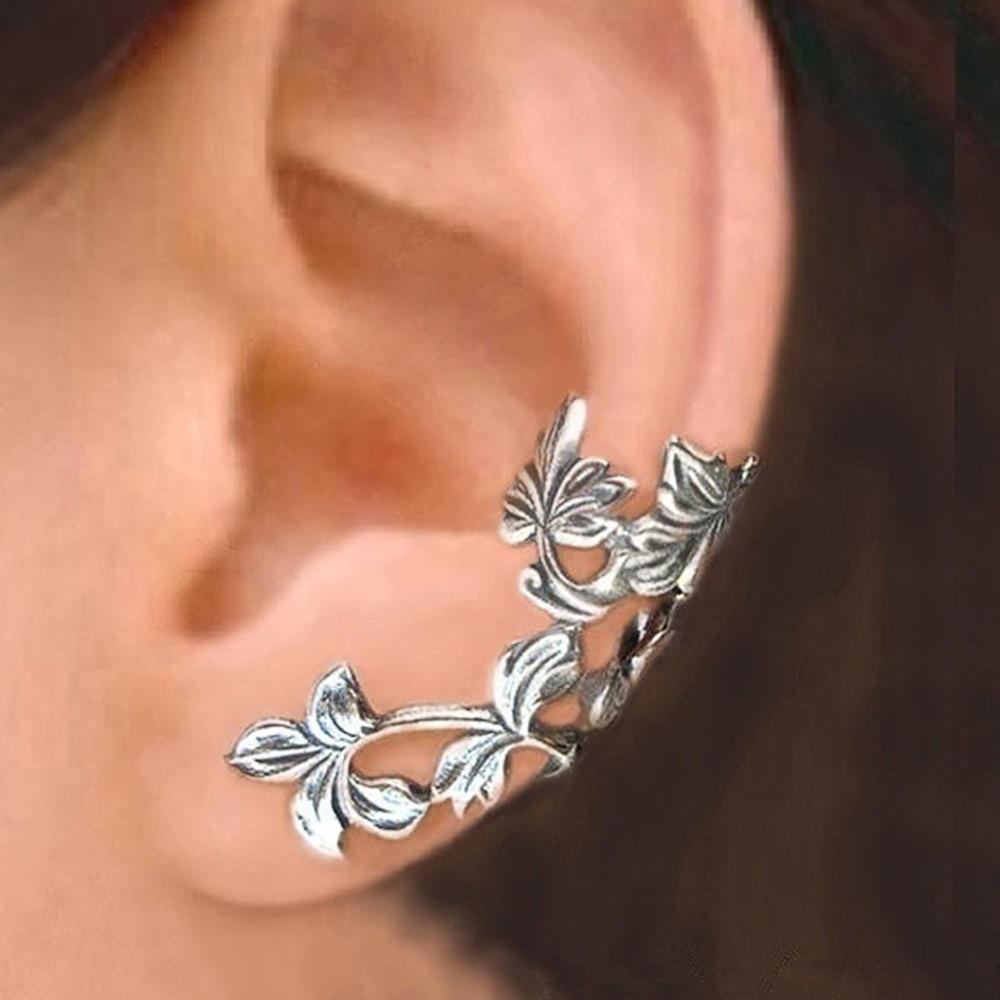 Huitan forma de videira clipe de ouvido para as mulheres simples elegante feminino diário acessórios wearable delicada menina presentes brincos retro jóias