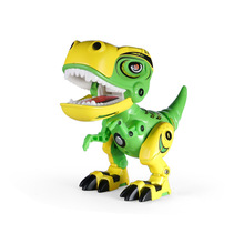 Childrens Toys Mini Simulation Mechanical Dinosaur Model Electronic Pet Alloy Metal Sound And Light Ornament Boy Gift