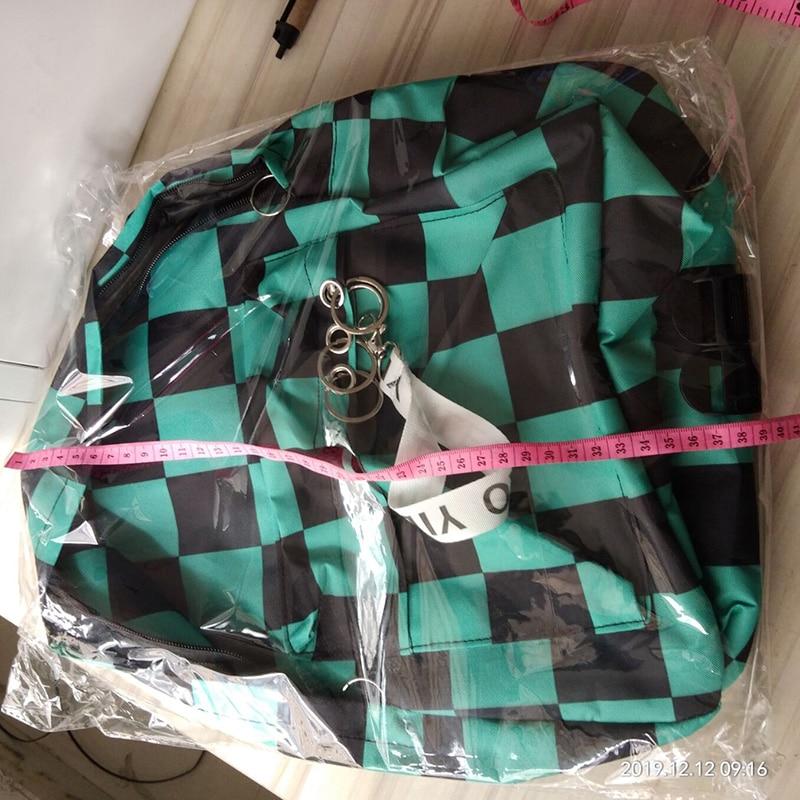 H2ea12e7e27fd4176bbbd3316411e838fE - Demon Slayer: Kimetsu no Yaiba Backpack Canvas Bag Kamado Tanjirou School Bags Girl Mochila Feminina Nezuko Notebook Bag Cosplay