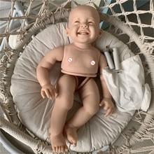 С тканью средства ухода за кожей DIY 28 дюймов Reborn Baby Doll комплект Мила из мягкой натуральной коже Цвет Неокрашенный кукла Запчасти DIY игрушки Р...