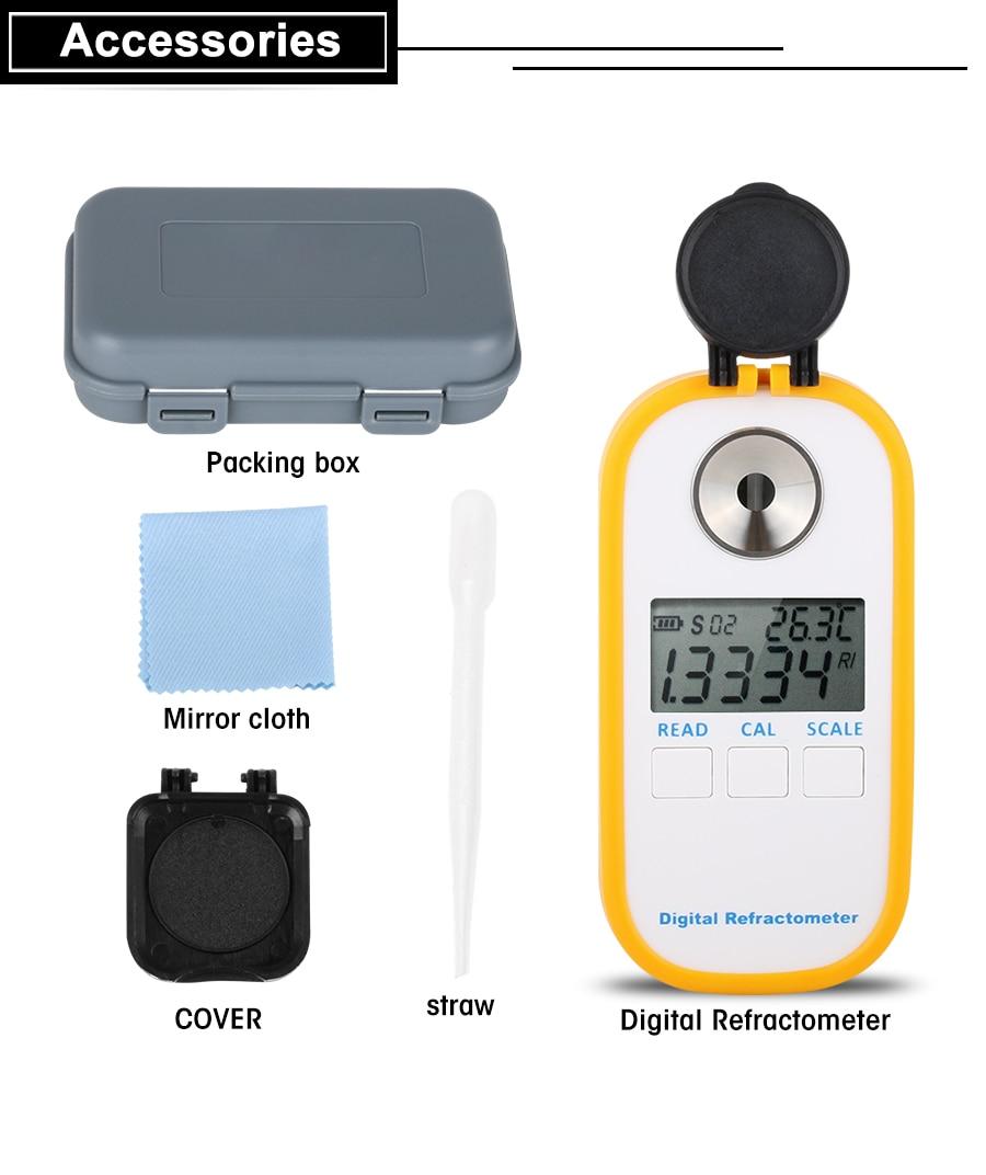 RZ Digital Refractometer Etileno Propileno Glicol Anticongelante