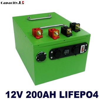 12v lifepo4 200ah battery pack 70ah lithium iron phosphate 12v 100ah rechargeable battery with inverter 220V for RV solar engine image