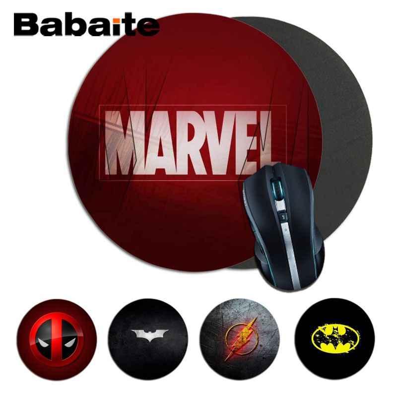 Babaite สินค้าใหม่ Marvel โลโก้ Batman รอบเมาส์ Pad PC คอมพิวเตอร์ MAT Anti-SLIP PC แล็ปท็อปเม้าส์ Pad MAT GAMING Mousepad