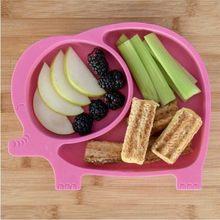 Éléphant modèle Division maman assiette rose bébé enfant cuisine mère famille cadeau 2021 Nutrition nourriture fruits nouvelle saison