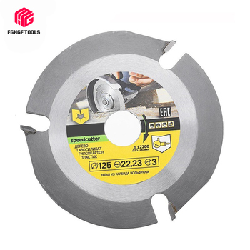 цена на 115/125mm 3 Teeth Circular Saw Blade Carbide Multitool Disc Tipped Wood Cutting Machine Electric Grinder Power Tool Accessories