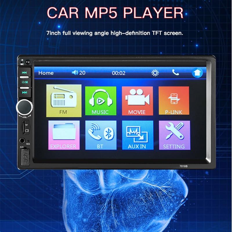 7 Inch 2 Din Mp3 Mp4 Mp5 Player 7018b Android Car Radio Fm Modulator Audio Transmitter Stereo Receiver Autoradio Amplifier CD
