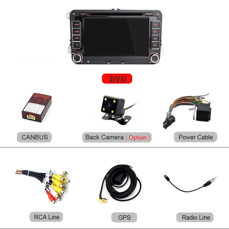 LDZDSEE coche reproductor Multimedia 2 Din Radio GPS para VW/Volkswagen/Golf/Polo/Tiguan/Passat/b7/b6/asiento/leon/Skoda/Octavia RDS