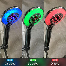 Cabezal de ducha LED con Control Digital de temperatura, pulverizador para ducha, cabezal de baño, accesorios de baño con modo de pulverización de agua