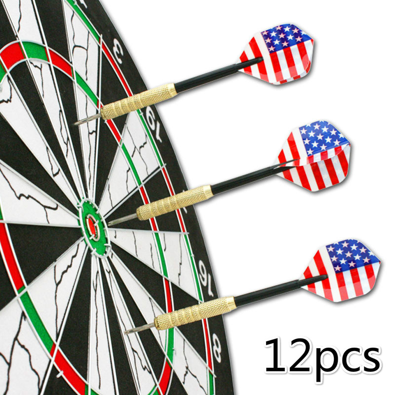 12 Pcs Plastic Soft Tip Darts With 36 Extra Tips Four Kind Nice Flights Set Tips Needle Replacement For Electronic Dart