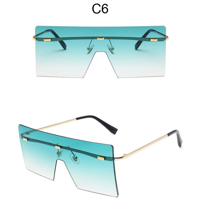 Oversized One Piece Square Sunglasses Women