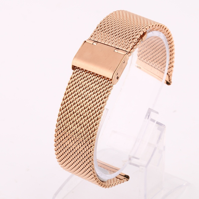 Watchband 18mm 20mm 22mm 24mm Universal Stainless Steel Metal Watch Band Strap For Milanese Watchband Bracelet Black Rose