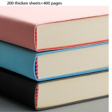 A4 soft thick noteBook simple high quality business school use note book 3 color