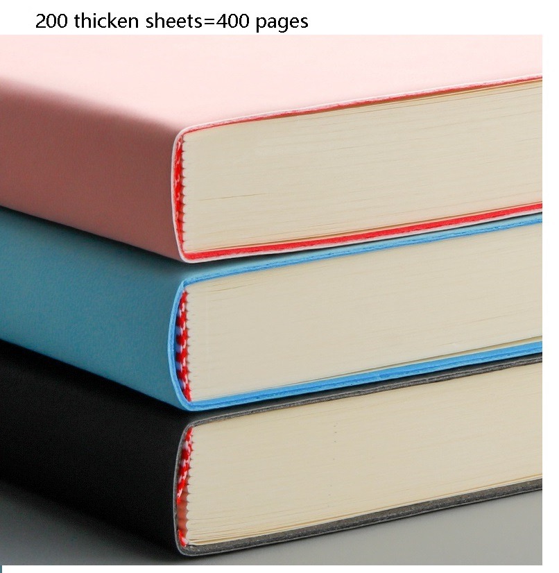 A4 Soft Thick NoteBook Simple High Quality Business School Use Note Book 3 Color Pink Black Blue Note Pad