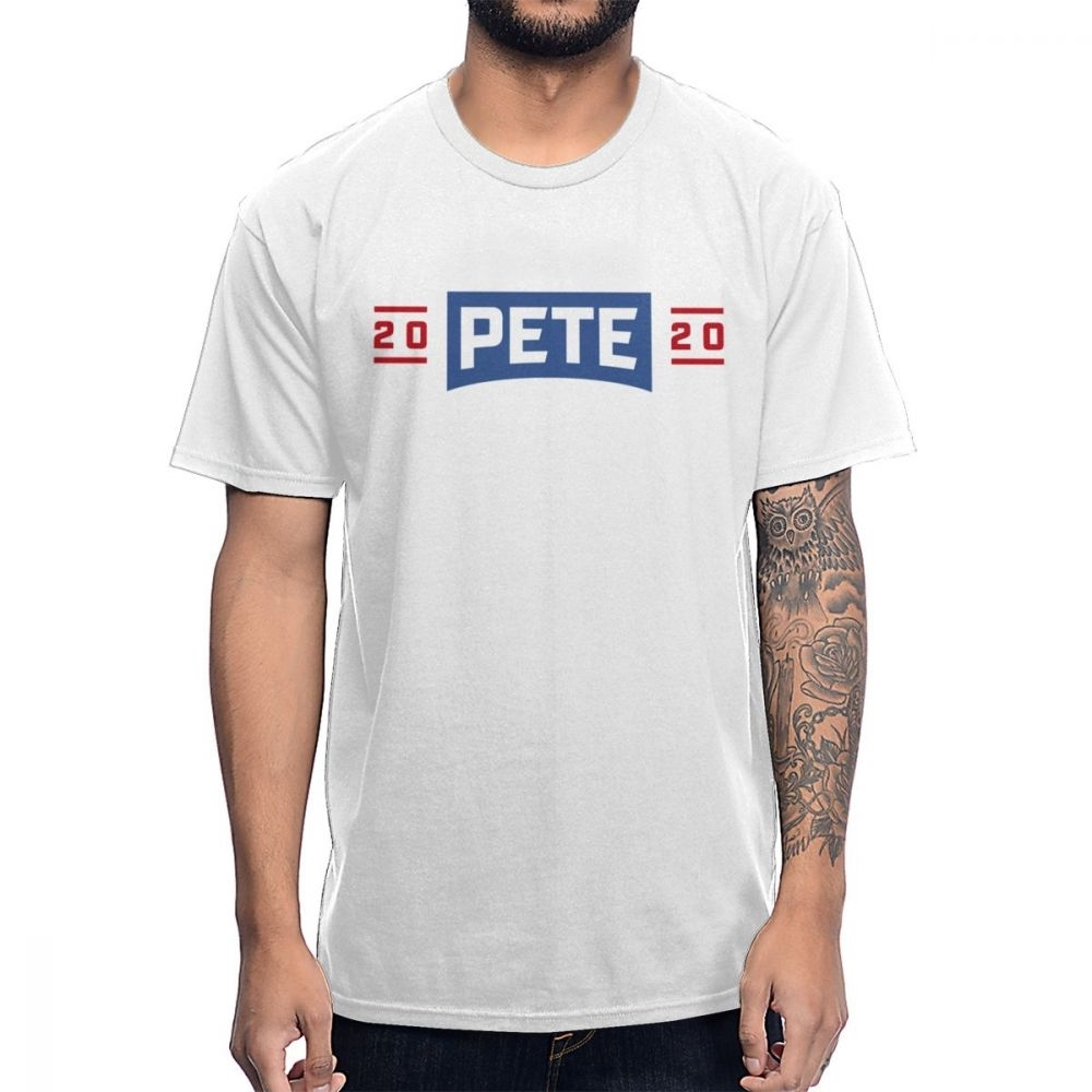 <font><b>Pete</b></font> <font><b>Buttigieg</b></font> 2020 President 100% Cotton T-shirt Awesome Round Collar Tee High Street Vaporwave Fashion Men's Clothes image