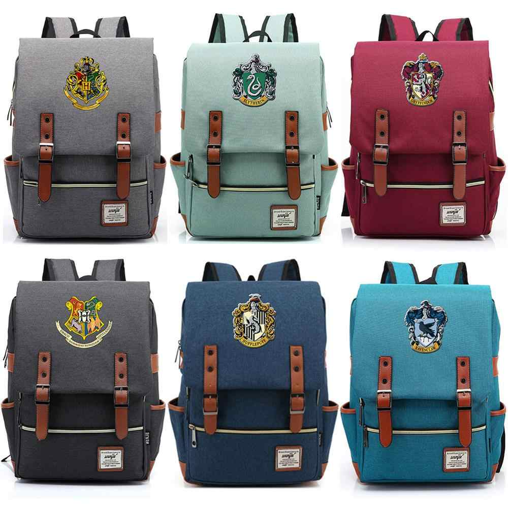 For Vip Link DropShipping Customized Magic School Hogwarts Boy Girl Student School bag Teenagers Schoolbags Women Men Backpack