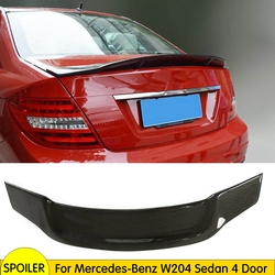 Spoiler W204 dla mercedes-benz W204 C200 C250 C300 C63 AMG Sedan 4 drzwi 2007 - 2013 tylne skrzydło spoilera z włókna węglowego
