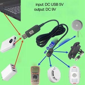 Image 3 - 9V סוללה Eliminator USB כבל 5V דחיפה 9V מתח ממיר צעד למעלה שנאי וולט DC כוח רגולטור קו עבור מודד