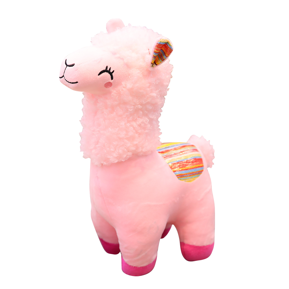 O encantador de fadas animal besta alpaca boneca de brinquedo de pelúcia para o presente de aniversário da criança para acompanhar tan presente uma cuspir animais