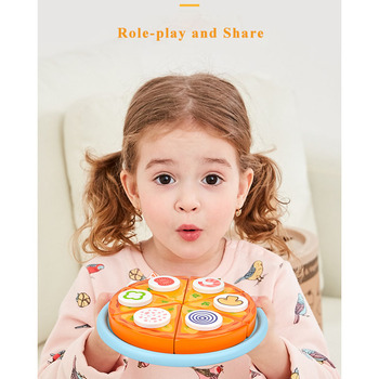 ToyWoo Wooden Magnetic Cut Fruit Children Toys Boys and Girls Vegetables Kitchen Cooking House Pizza Toys Girls Boys free shipping magnetic simulation fruit well send to receive bag house wooden toys