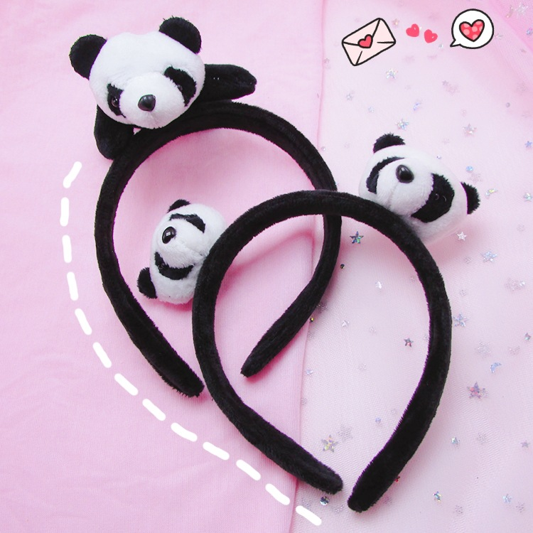 Full All Designs , New HOT 3cm Little Plush Toys for Hair Band , Hair Tie , Kid's Party Gift Panda Plush Stuffed Toys Headband