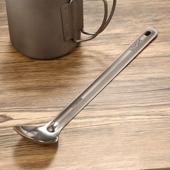 Lixada Titanium Long Handle Spoon with Polished Bowl Outdoor Portable Spoon Cutlery Kitchen Camping Hiking Picnic Tablewareware 5