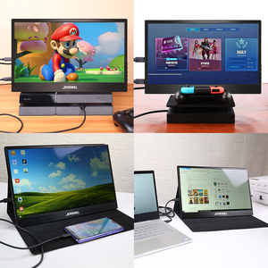 Image 2 - ポータブルモニター15.6インチ液晶usbタイプc hdmiゲームモニターips 1080 1080p hdディスプレイPS4ノートパソコンの電話xboxスイッチpcケース