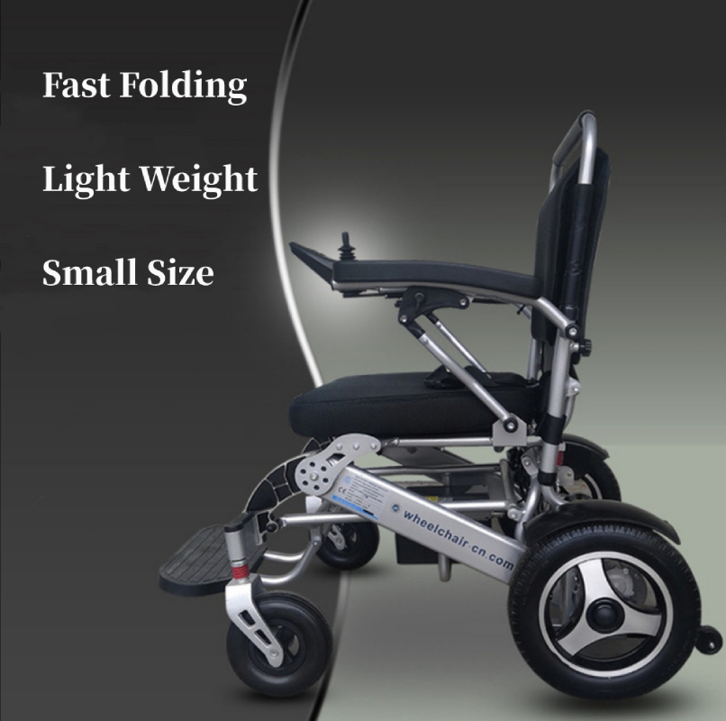 Electric Power Wheelchair Fast Folding Light Weight Small Size ABS Smart Brake For Disabled Old People Walk Chair Only 27kg