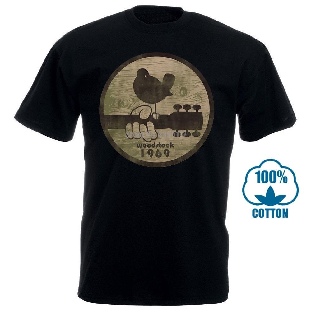 Men T Shirt Woodstock 1969 Fitted Funny T Shirt Novelty Tshirt Women
