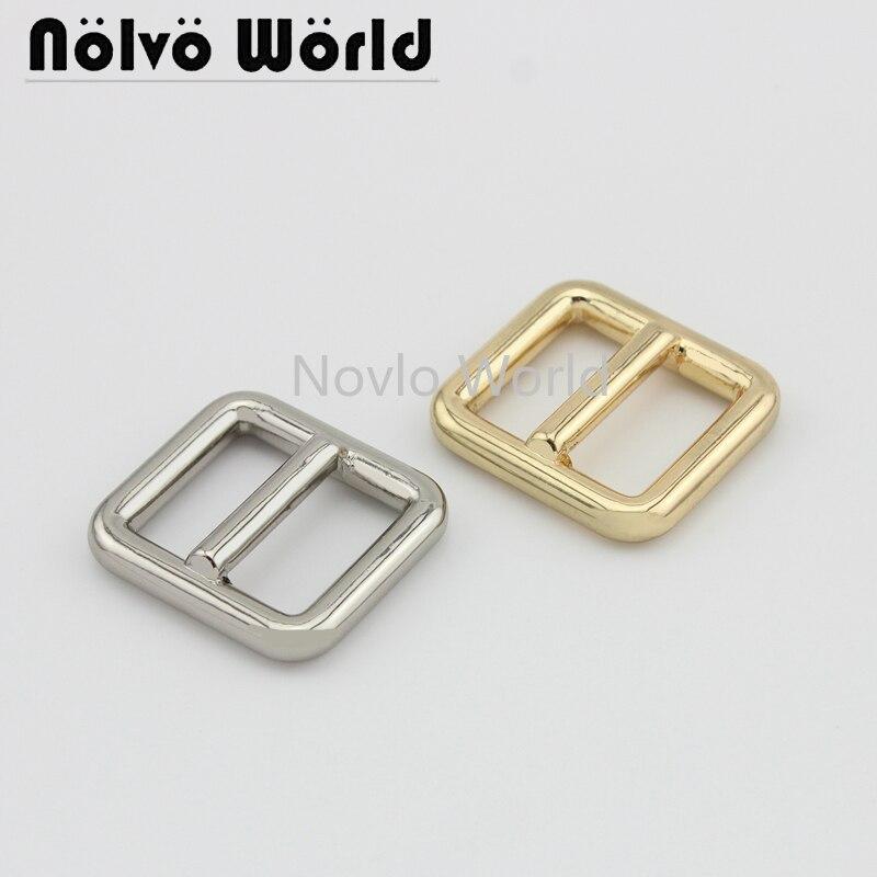 6 Pieces,inner Width 18.7*16mm, Metal Buckle Shoulder Leather Bag Strap Belt Rectangle Adjust Tri-glide Squre Buckle Accessories