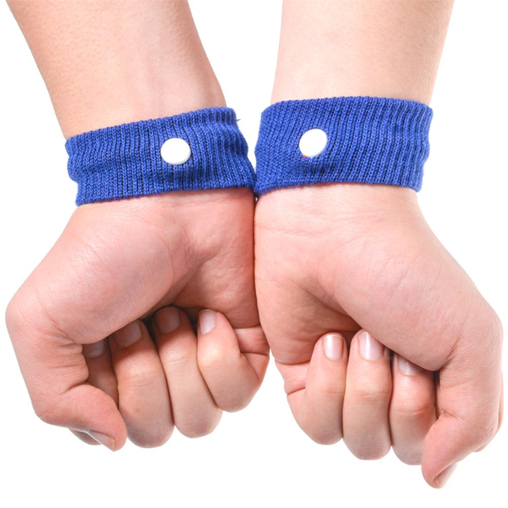 2Pcs Adjustable Outdoor Travel Bracers Reusable Cotton Wrist Band Anti Nausea Wristband Sickness Car Motion Sea Sick Ship Plane