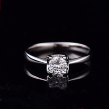 Moissanite טבעות לנשים D צבע 0.5ct 2ct סופר פלאש אירוסין טבעות קלאסי S925 סטרלינג כסף טבעת Femlae תכשיטים