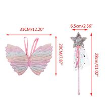 Cute Children Costumes Performance Props Gradient Color Butterfly Princess Angel Fairy Stick Kids Dress Up Playing C5AF