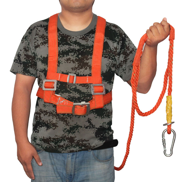 3m Aerial Work Safety Belt Five-Point Safety Fall Protection Adjustable High-Altitude Insurance Belt Cushioning Belt